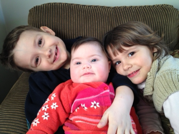 Julia with big brother and sister