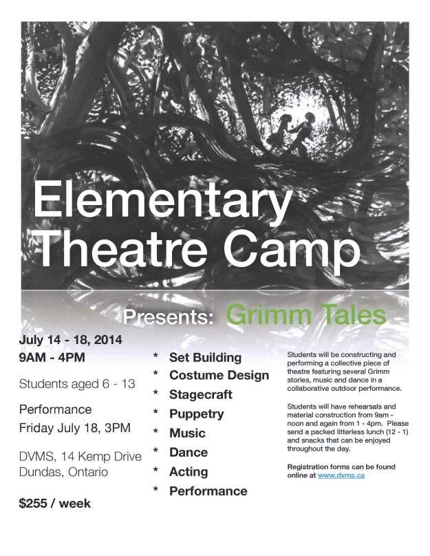2014 Elem Theatre Camp Grimm Poster
