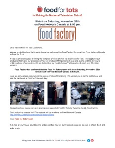 Food Factory letter