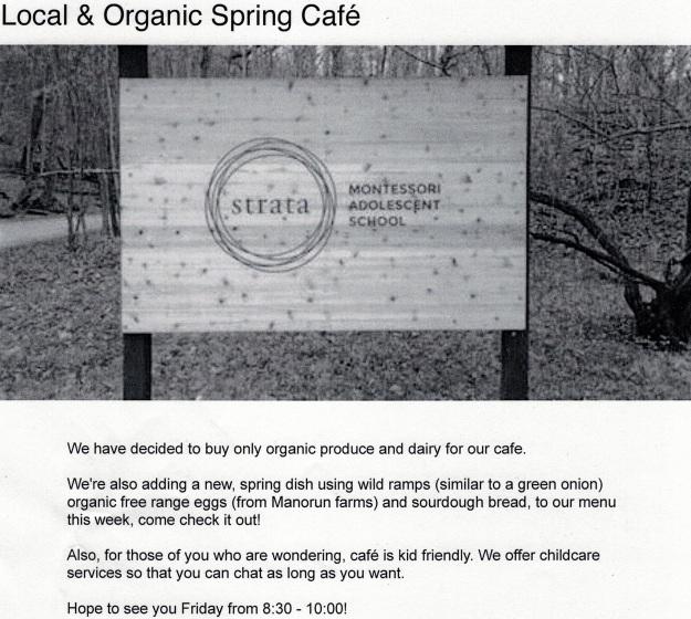 Strata Cafe Spring 17